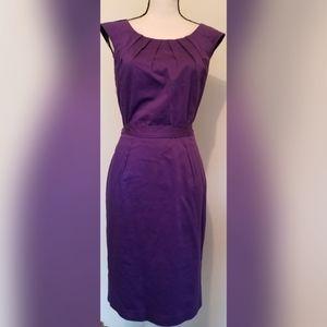 Calvin Klein Purple Cotton Shift Dress Work Career